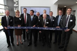 Emerson executives and special guests celebrate the official opening of the new Solutions Centre in Aberdeen