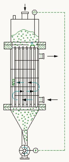 Tubular Heat Exchanger For Free Flowing Products Cooling