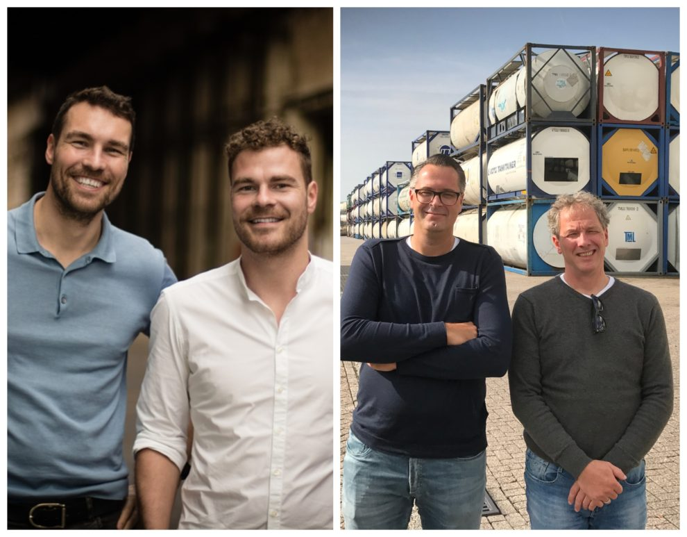 Founders of Pinpools (left) and Tankcontainerfinders.com (right)