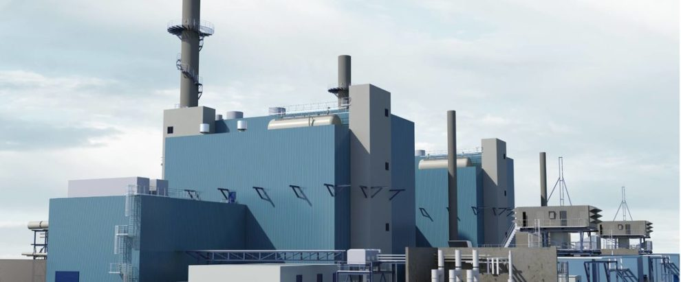 Evonik Technology gas and steam turbine power plant